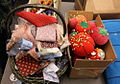 Fabric scraps and pin cushions (6281207987).jpg