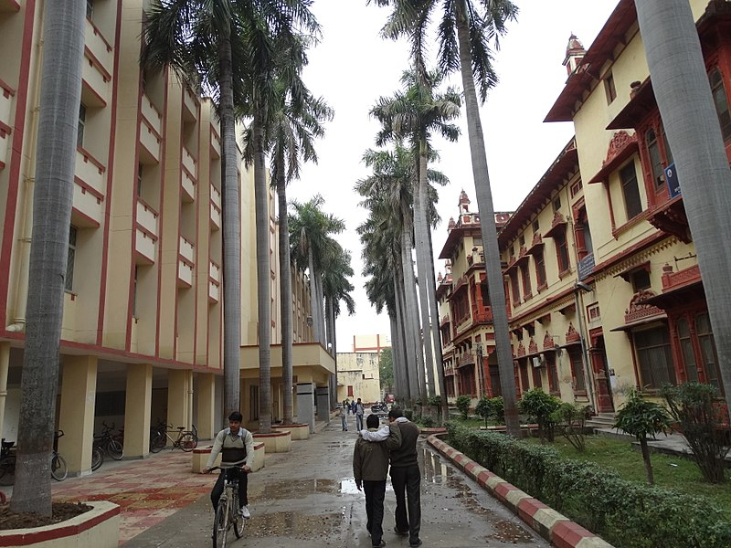 File:Facades with Pedestrians - Banaras Hindu University - Varanasi - Uttar Pradesh - India (12519648883).jpg