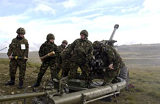 207 (City of Glasgow) Battery Royal Artillery - Image: Falklands