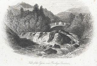 Falls of the Ogwen, near Penrhyn Quarries