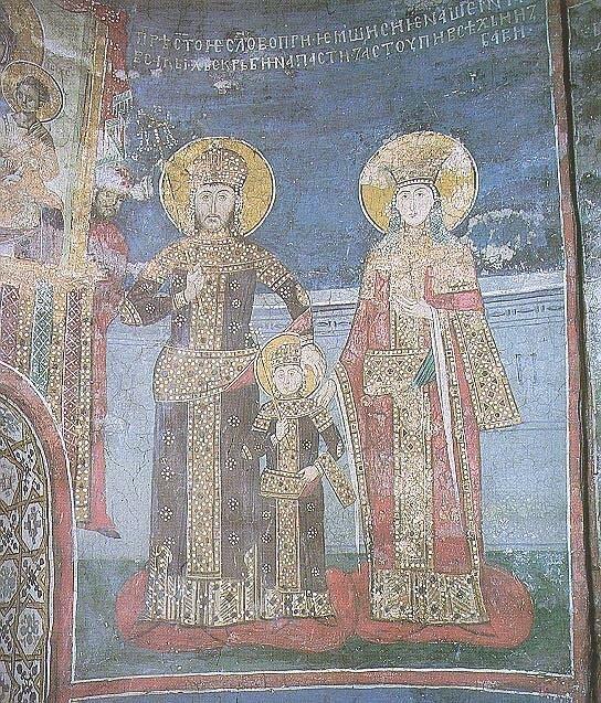 Family of Serbian Emperor Stefan Dušan, Dečani