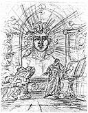 Faust und Erdgeist, Illustration von Goethe