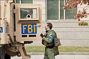 English: FBI agents from the Washington Field ...
