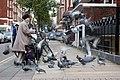 Feeding the pigeons in Bryanston Place, London W1 - geograph.org.uk - 1610211.jpg
