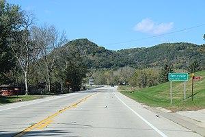 Ferryville, Wisconsin - Image: Ferryville Wisconsin Sign WIS35 Oct 2016