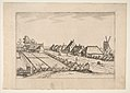 Fields with a Village Road with Post Mill, from the series The Small Landscapes (Multifariarum Casularum) MET DP818234.jpg