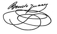 Benito Juárez's signature