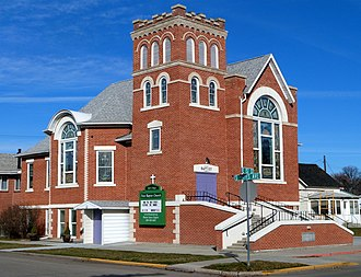 National Register of Historic Places listings in Gem County, Idaho - Image: First Baptist Church Emmett Idaho
