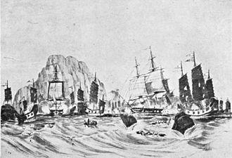 Battle of Chuenpi - Volage and Hyacinth in Chuenpi