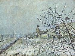 Alfred Sisley: First Snow at Veneux-Nadon
