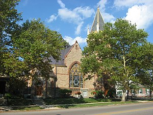 National Register of Historic Places listings in Madison County, Ohio - Image: First United Methodist Church of London, Ohio