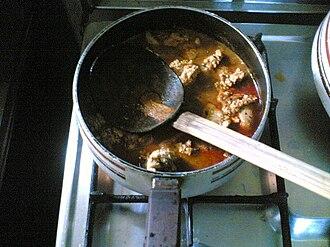 Mangalorean Catholic cuisine - Fish Roe Curry in Mangalorean Catholic style