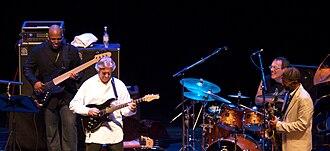 Kenny Garrett - Christian McBride, John McLaughlin, Vinnie Colaiuta and Garrett in 2008