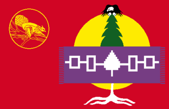 Akwesasne - Image: Flag of the Mohawk Nation of Akwesasne