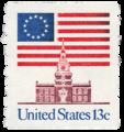 Flag over Independence Hall stamp.png