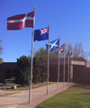 Flagpoles at International Linguistic Center, Dallas.png