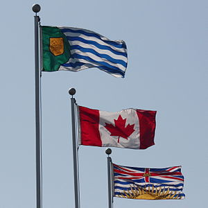 Vanier Park - Image: Flags of Vancouver Canada BC