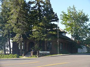 National Register of Historic Places listings in Coconino County, Arizona - Image: Flagstaff Arizona Lumber and Timber Company Office 1