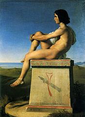 Polytès, fils de Priam, observant les mouvements des Grecs vers Troie