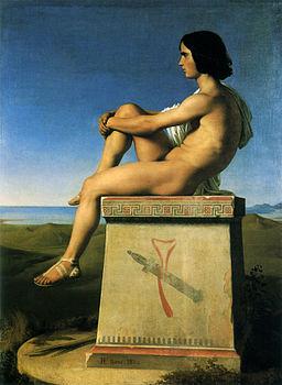 Flandrin, Hippolyte (1805-1864) - Polytès, fils de Priam, observant ecc. (1833-4) - ErosAccademia p. 51