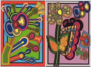 Francis Bernard (artist) - Fleurs géométriques