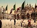 Flickr - …trialsanderrors - Piazza San Marco ^ Basilica, Venice, Italy, ca. 1895.jpg