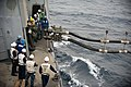 Flickr - Official U.S. Navy Imagery - Sailors observe a double-probe fuel line from the Military Sealift Command..jpg