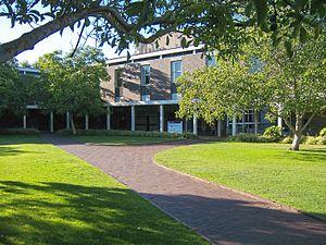 Flinders University - View of the courtyard of the Humanities building of the Flinders University.