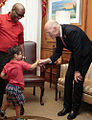 Florida Governor Rick Scott and Xavier Robinson welcome Down Syndrome Awareness Week 2016 with hand-shakes and hugs.jpg