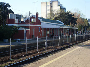 Florida Oeste, Buenos Aires - The railway station of Belgrano Norte Line.