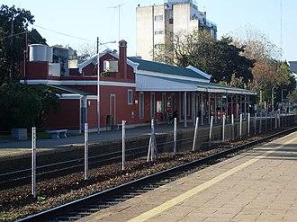 Florida Oeste, Buenos Aires - The railway station of Belgrano Norte Line.