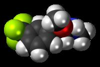 Space-filling model of the fludorex molecule