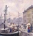 Folk som promenerar på Skeppsbron. Fritz von Dardel - Nordiska Museet - NMA.0043716c.jpg