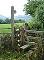 Footpath and stile, 2k NE of Pontypool - geograph.org.uk - 468494.jpg