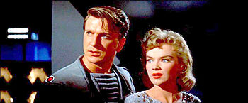 Screenshot of Leslie Nielsen and Anne Francis ...
