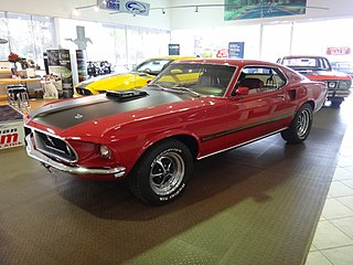 Ford Mustang American muscle car model