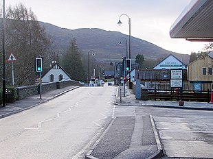 A road in Fort Augustus