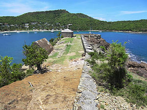 English Harbour - Fort Berkeley at the harbour entrance
