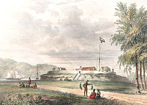 Maluku Islands - Fort Duurstede in Saparua, 1846