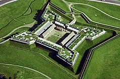 Luftbild von Fort Stanwix National Monument