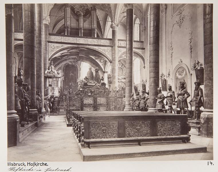 Fotografi av Hofkirche i Innsbruck - Hallwylska museet - 103133