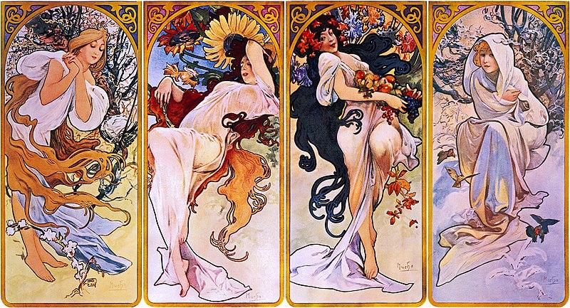 https://upload.wikimedia.org/wikipedia/commons/thumb/e/ee/Four_Seasons_by_Alfons_Mucha%2C_circa_1897.jpg/800px-Four_Seasons_by_Alfons_Mucha%2C_circa_1897.jpg