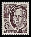 Fr. Zone Württemberg 1948 15 Friedrich Hölderlin.jpg