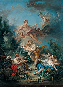 François Boucher - Kimbell 'Mercury Confiding the Infant Bacchus to the Nymphs of Nysa'