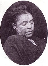 Mortuary photograph of Frances Coles