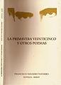 """Francisco Navarro Navarro. Portada de """"La primavera veinticinco y otros poemas"""".JPG"""
