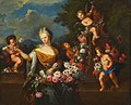 Francois Liberti - Allegory of the beauty of a maid of honor before the marriage, flower painting columbine.Jpeg