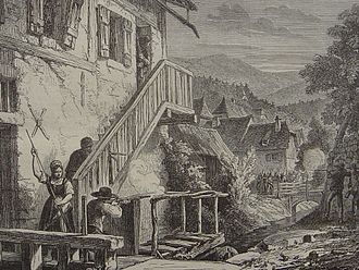 Francs-tireurs - Francs-tireurs in the Vosges during the Franco-Prussian War.