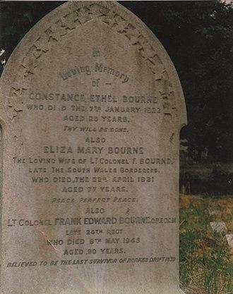 Frank Bourne - Frank Bourne grave in Beckenham