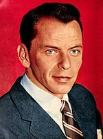 Colored photo of Frank Sinatra in 1957 from the publication TV-Radio Mirror.